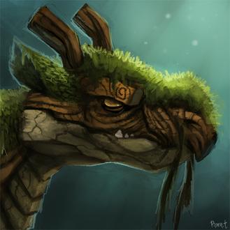Фото Лесной деревянный дракон, by Cryptid-Creations