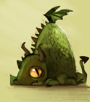 Фото Желтоглазый зеленый дракон, by Cryptid-Creations