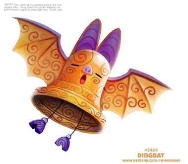 Фото Летучая мышка-колокольчик (Dingbat), by Cryptid-Creations