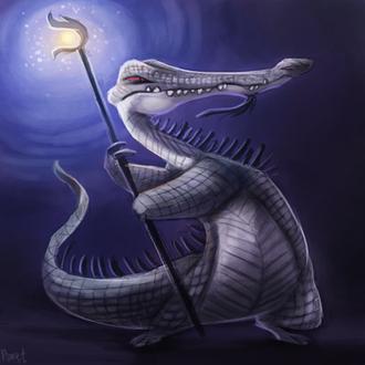 Фото Шаман крокодил с посохом, by Cryptid-Creations