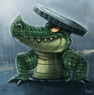 Фото Крокодил с люком под дождем, by Cryptid-Creations