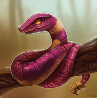 Фото Змея на ветке, by Cryptid-Creations