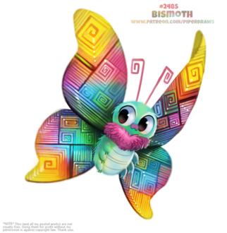 Фото Бабочка с разноцветными крыльями (Bismoth), by Cryptid-Creations