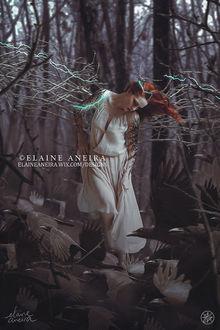 Фото Девушка с воронами у ног, by Elaine Aneira