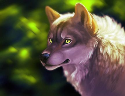 Фото Волк с зелеными глазами, by ClimbToTheStars