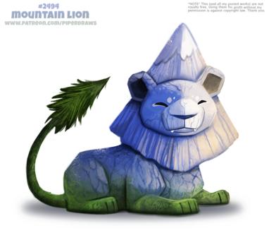 Фото Горный лев на белом фоне (Mountain Lion), by Cryptid-Creations