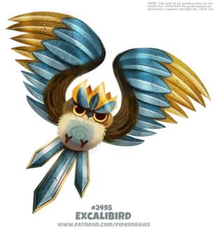 Фото Птица на белом фоне (Excalibird), by Cryptid-Creations