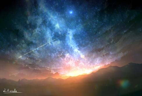 Фото Закат солнца и ночное небо, by ALPCMAS
