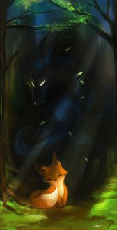 Фото Лисенок и дух черного волка, by Momentho