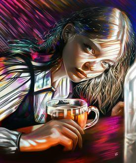 Фото Девушка с чашкой чая, by vurdeM