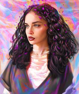 Фото Девушка с волнистыми волосами, by vurdeM