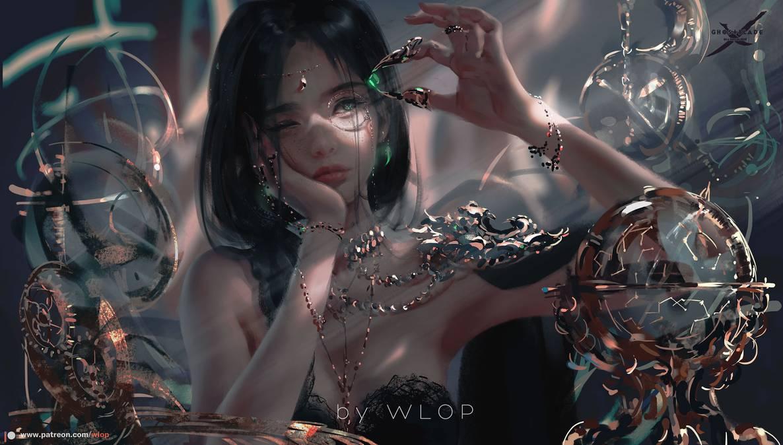 Фото Принцесса Aeolian с камешком в руке, by wlop
