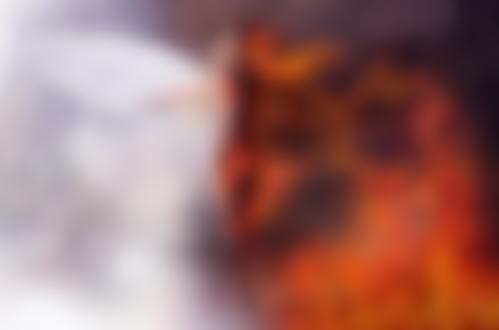 Фото Обнаженная девушка с белым крылом и горящей половиной, by KatitziArt