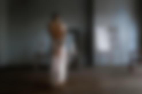 Фото Полуобнаженная девушка стоит в комнате к нам спиной. Фотограф Герасимов Константин