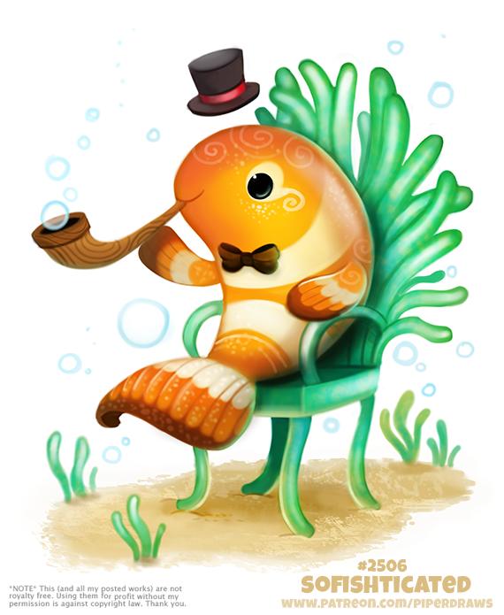Фото Рыбка клоун с трубкой (Sofishticated), by Cryptid-Creations