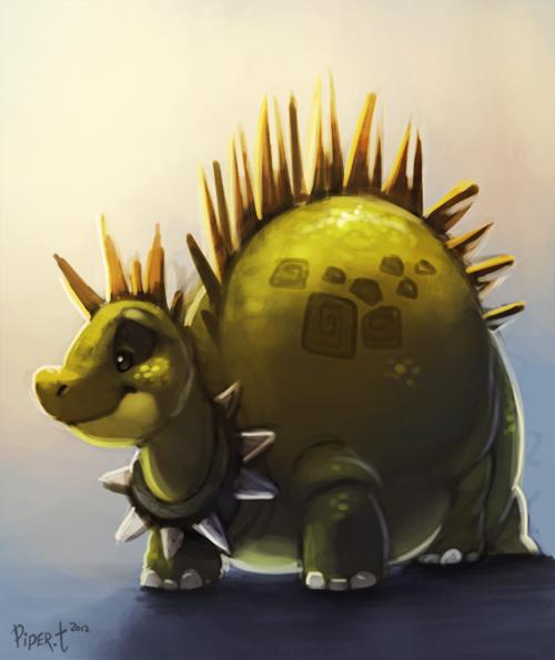Фото Зеленый динозаврик с шипами, by Cryptid-Creations