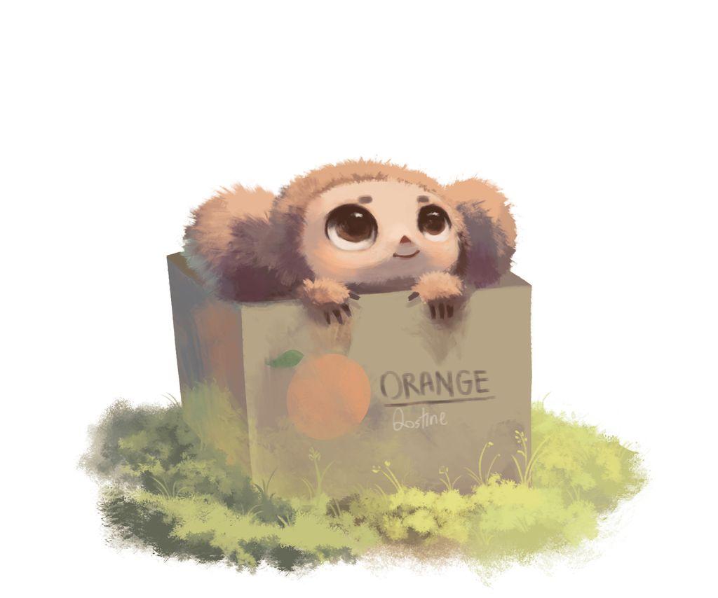 Фото Чебурашка в ящике с апельсинами, by Qostine