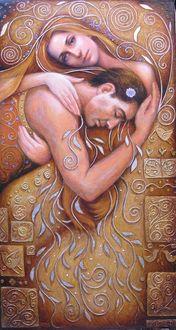 Конкурсная работа Девушка нежно обнимает любимого мужчину, by Irina Vitalievna Karkabi