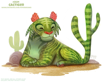 Фото Кактус-тигр (Cactiger), by Cryptid-Creations