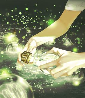 Фото Парень с лампочкой в руках, by Re°