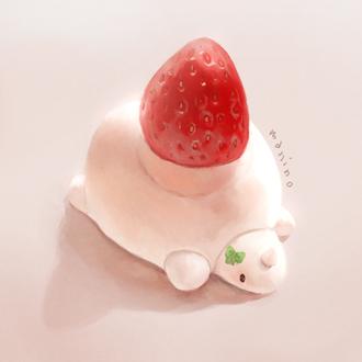 Фото Клубничная пироженка в виде черепахи, by manino
