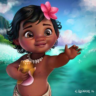 Фото Моана Ваялики / Moana Waialiki из мультфильма Моана / Moana, by elirain