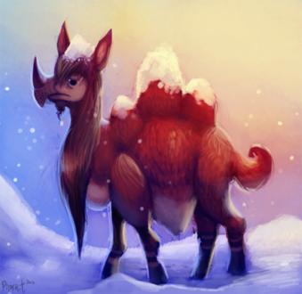 Фото Рогатый верблюд под снегопадом, by Cryptid-Creations