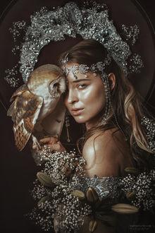 Фото Модель Анастасия Лысенко с совой, by Marketa Novak