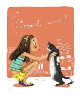 Фото Девочка показывает язык коту, by 4leafcloverVN