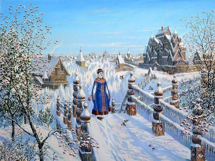 Фото Девушка идет по снежной дорожке, by Всеволод Иванов