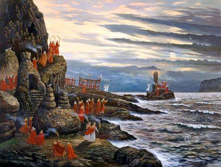 Фото Картина под названием - День морской богини, художник Всеволод Иванов