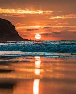 Фото Закат солнца над морем, by greghfoto