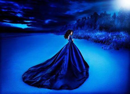Фото Девушка в синем платье, фотограф Алена Иордан