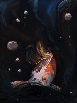 Фото Карп кои под водой, by RainbowPhilosopher