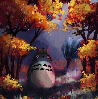 Фото Totoro / Тоторо из аниме Мой сосед Тоторо / My Neighbor Totoro, by RainbowPhilosopher