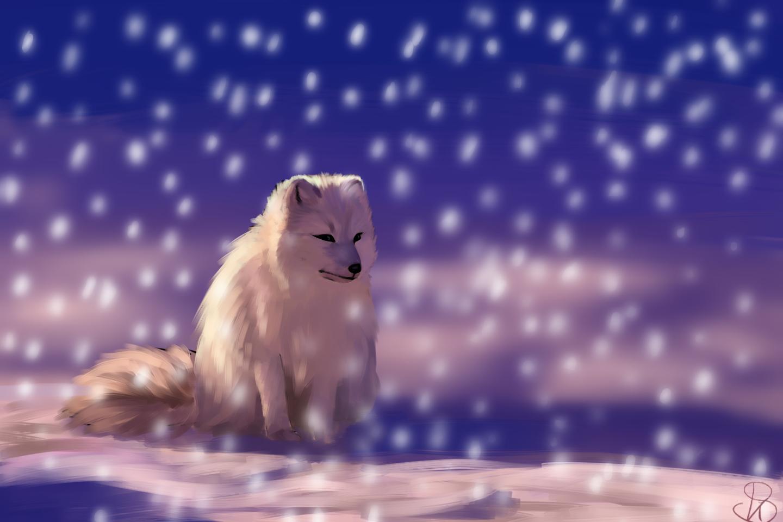 Фото Песец под снегопадом, by Kuraikirameki
