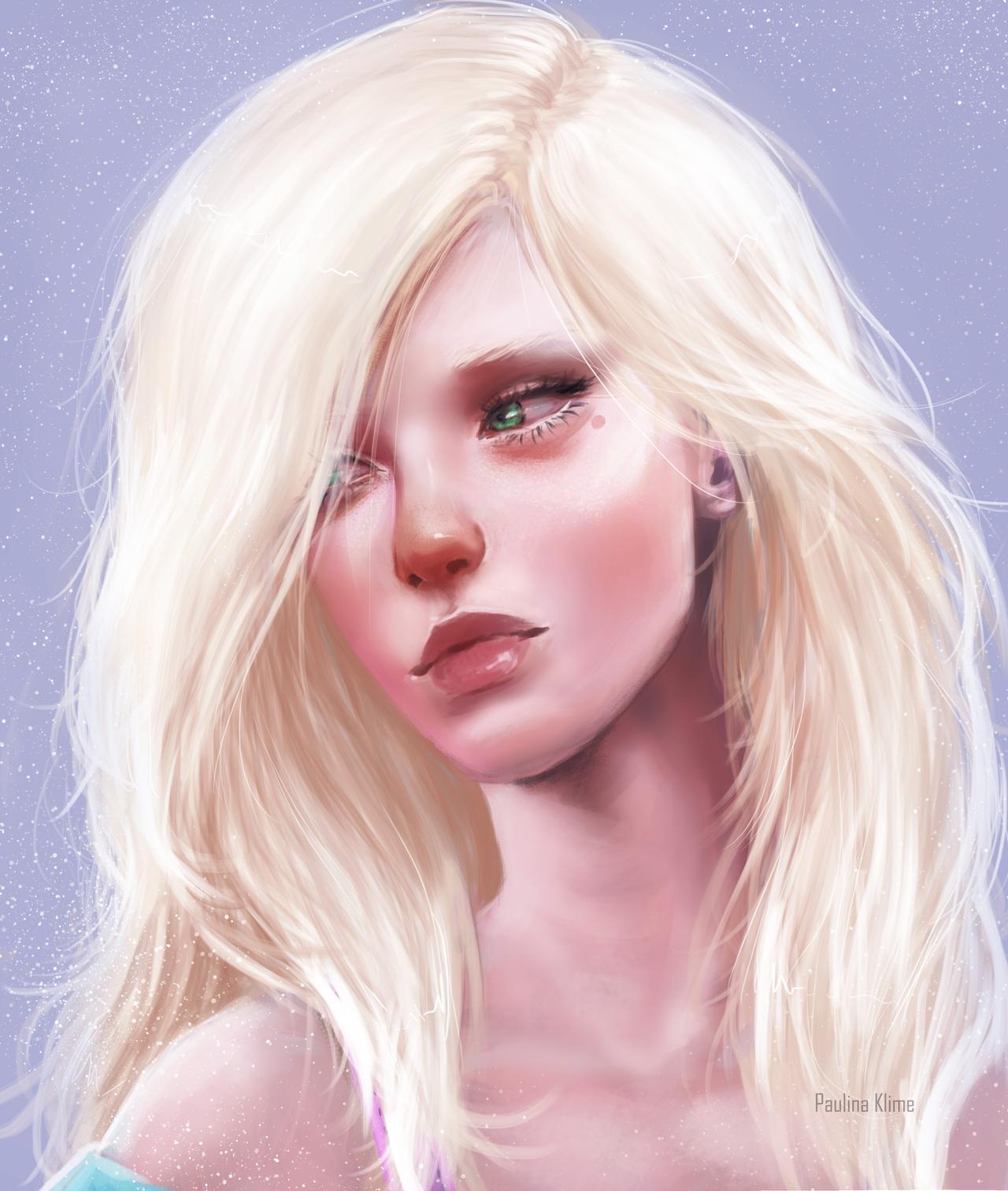 Фото Блондинка с зелеными глазами, by PaulinaKlime