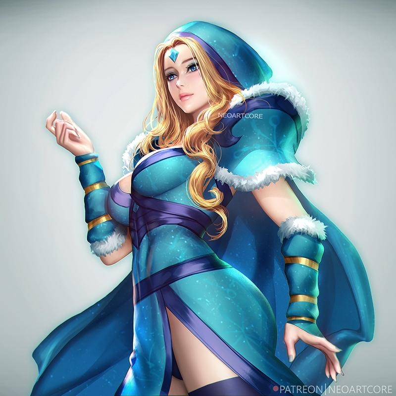 Фото Crystal Maiden / Принцесса Снегов из игры Dota2, by NeoArtCorE
