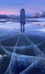 Фото Девушка стоит на льду