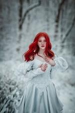 Фото Девушка с яркими волосами в длинном платье, фотограф Светлана Беляева