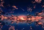 Фото Закат сонца и его отражение в воде