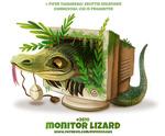 Фото Варан внутри компьютера, (Monitor Lizard / Монитор Ящерица), by Cryptid-Creations