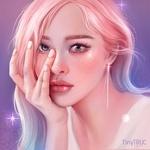 Фото Девушка с розовыми волосами, by TinyTruc