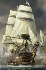 Фото Парусный пиратский корабль в бою