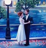 Фото Девушка в белом платье стоит рядом с мужчиной, by Diana Pedott
