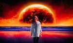Фото Девушка стоит на фоне планеты, by Igor Gorshkov