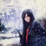 Фото Девушка под снегопадом, by Axsens