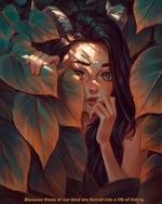 Фото Девушка за листвой, by AngelGanev