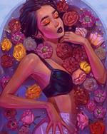 Фото Девушка в ванне с водой и цветами, by AngelGanev