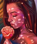 Фото Девушка с розой в руке, by AngelGanev